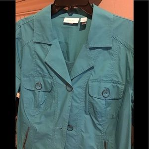CHICO'S Turquoise Light Jacket 16/18